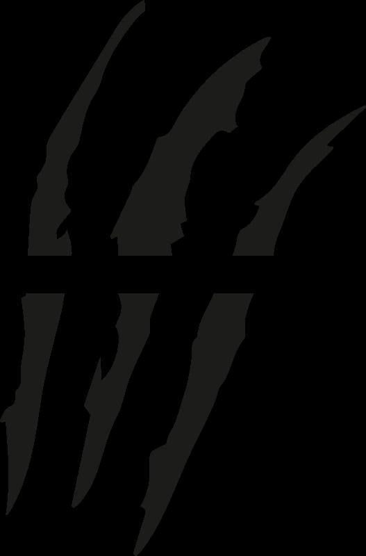 TenStickers. Autostickers klauw krassen. Koop onze decoratieve en eenvoudig aan te brengen autosticker met speciaal visueel effect geometrisch lijnontwerp. Het is aanpasbaar in verschillende kleuropties.