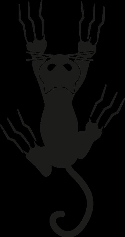 TenVinilo. Perchas adhesivas gato escalando pared. Pechas adhesivas decorativas con gato escalando pared para que tus abrigos y elementos de ropa estén localizados ¡Envío a domicilio!