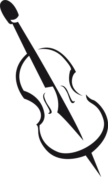 TenStickers. Violin Music Sticker. A brilliant monochrome wall sticker illustrating a music instrument! This beautiful violin decal is the perfect way to decorate your home!