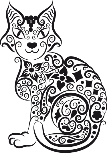 TenStickers. Abstrakte Katze Aufkleber. Mit diesem originellen Wandtattoo Design einer Katze können Sie Ihrem Zuhause eine individuelle Note verpassen.