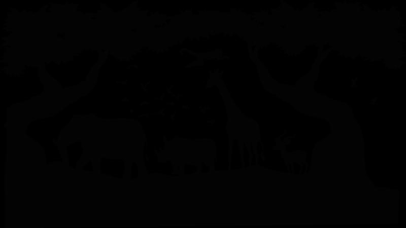 TenStickers. Muursticker wilde dieren Savannelandschap met dieren. Een geweldig savanne landschap met dieren stickers voor uw huis. Het is verkrijgbaar in elke gewenste maat en eenvoudig aan te brengen op een vlakke ondergrond.