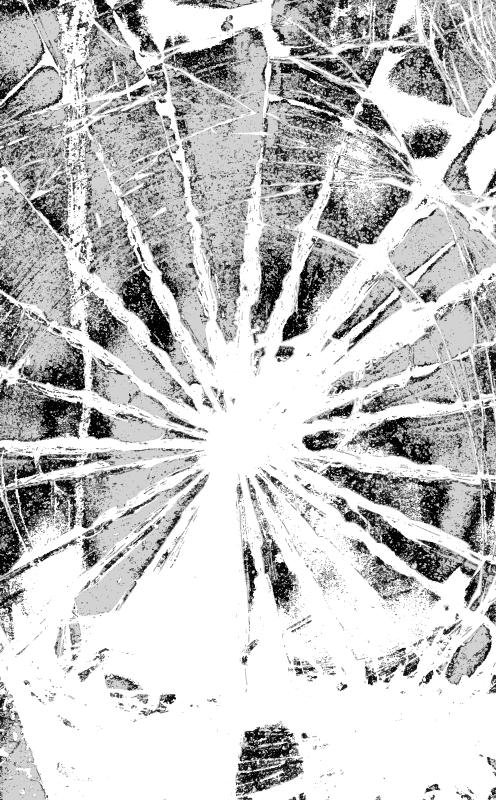 TENSTICKERS. 壊れたガラスシャワーステッカー. 壊れた表面のオリジナルの視覚効果デザインを備えたバスルームスペースのシャワースクリーンビニールデカール。製品はどのサイズでもご利用いただけます。