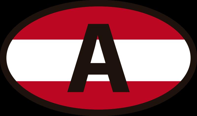 TenStickers. Aufkleber Auto Österreich Flagge. Ein Autoaufkleber mit Österreich Flagge, um ein Auto mit der symbolischen Darstellung von Österreich zu verzieren. Es lässt sich leicht auf jeder ebenen Fläche auftragen.