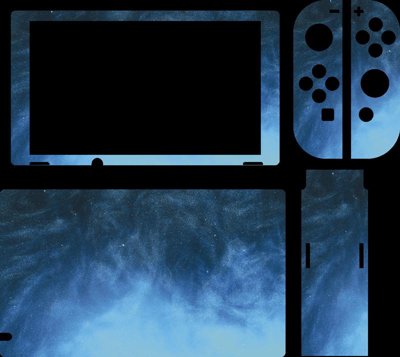 TENSTICKERS. 青い油絵の具任天堂スキン. お使いのデバイスの表面を覆うニンテンドースイッチスキンデカールで、この製品は青い油絵の具のテクスチャ効果で作られています。簡単に適用できます。