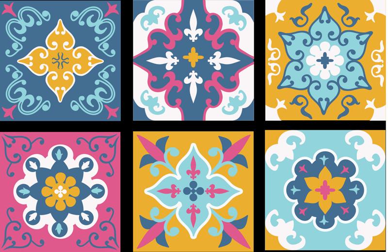 TenVinilo. Azulejos vinílicos patrón de verano. Cubra la su baño o su cocinacon estos increíbles azulejos vinilicos estampados de verano. Elige pack y medidas ¡Envío a domicilio!
