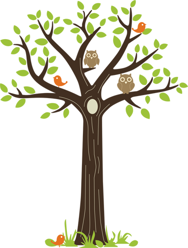 TenStickers. Owls on a Tree Wall Sticker. This kids wall decal from our collection of owl wall stickers is a fantastic design for the bedroom of the little ones at home. This magnificent owl wall art sticker is ideal for decorating the nursery, living room, child's room and more!