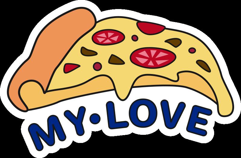 TENSTICKERS. ピザラップトップスキンデカール. あなたのラップトップの表面を飾るためにピザのデザインとテキストが付いた料理テーマのラップトップステッカーを購入してください。どのサイズでもお選びいただけます。