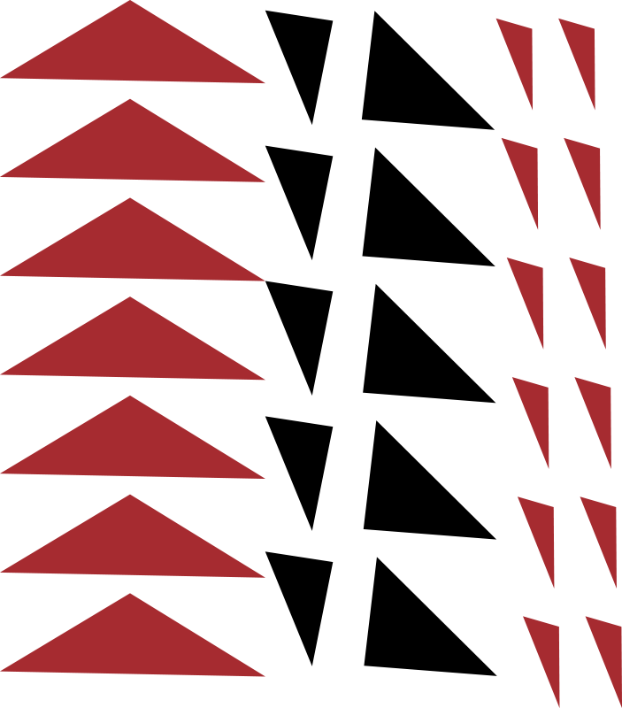 TenStickers. Moderni trikotniki avtomobilske nalepke. Okrasite površino svojega vozila na sodoben in zabaven način z našo nalepko geometrijske oblike različnih barv. Je enostavno uporabiti.