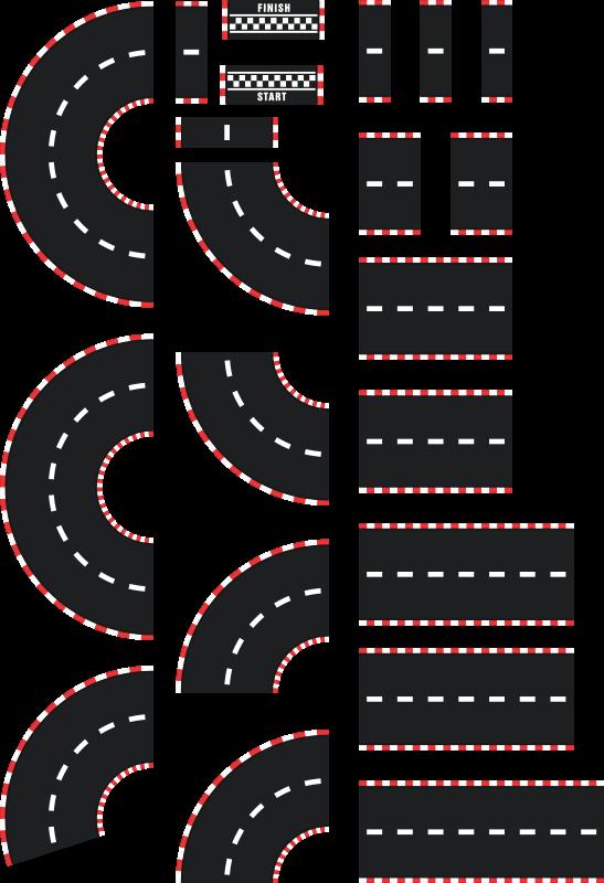 TENSTICKERS. 床の通りビニールデカール床タイル. シンプルなフロアストリートビニール。このデザインは、フロアスペースの実例となるストリートであり、任意のサイズで利用できます。