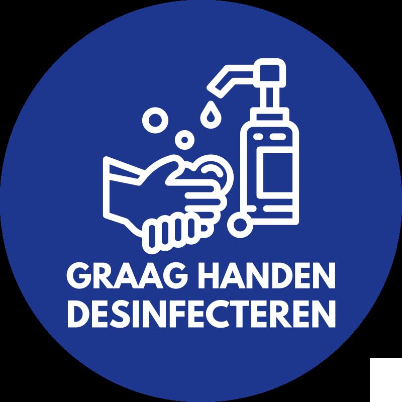 TenStickers. Aanwijzingen muurstickers handen desinfecteren . Een iconische Covid sticker om mensen te instrueren de hand te desinfecteren voordat ze een ruimte binnengaan. Het is verkrijgbaar in elke gewenste maat en eenvoudig aan te brengen.