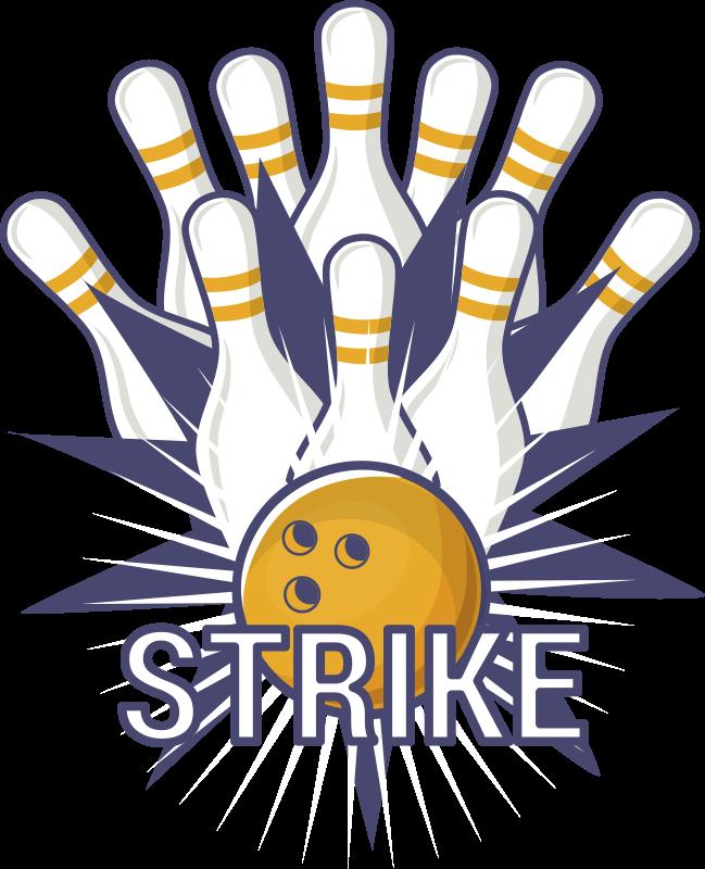 TENSTICKERS. ボールがスキットルズ壁デカールに衝突. ボウリングゲームスポーツウォールステッカー。ゲームのエネルギーと楽しさであらゆるスペースを飾ります。必要なサイズでご利用いただけます。