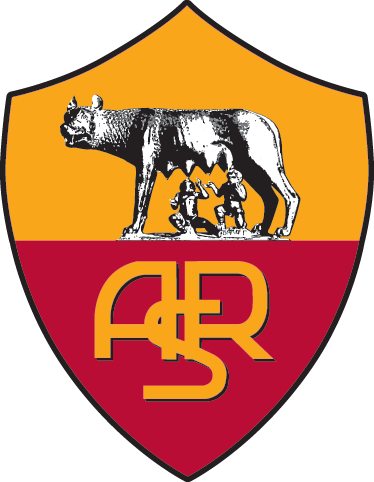 TenStickers. Adesivo murale AS Roma. Stemma Adesivo dell'Associazione Sportiva Roma, noto club calcistico italiano, uno dei piu' importanti della Serie A.