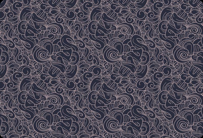 TenStickers. Autocolante decorativo para PC Paisley ornamental abstrato. autocolante decorativo abstrato paisley pc adequado para cada pc. Está disponível em qualquer tamanho necessário e sua aplicação é muito fácil.