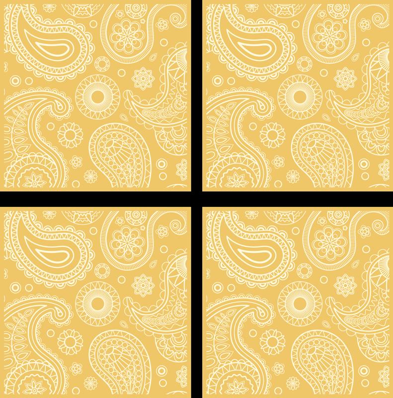 TENSTICKERS. アラビア語のペイズリー装飾壁デカール. 浴室の装飾のための装飾的な花のステッカー。ペイズリー模様で設計されており、適用は非常に簡単です。