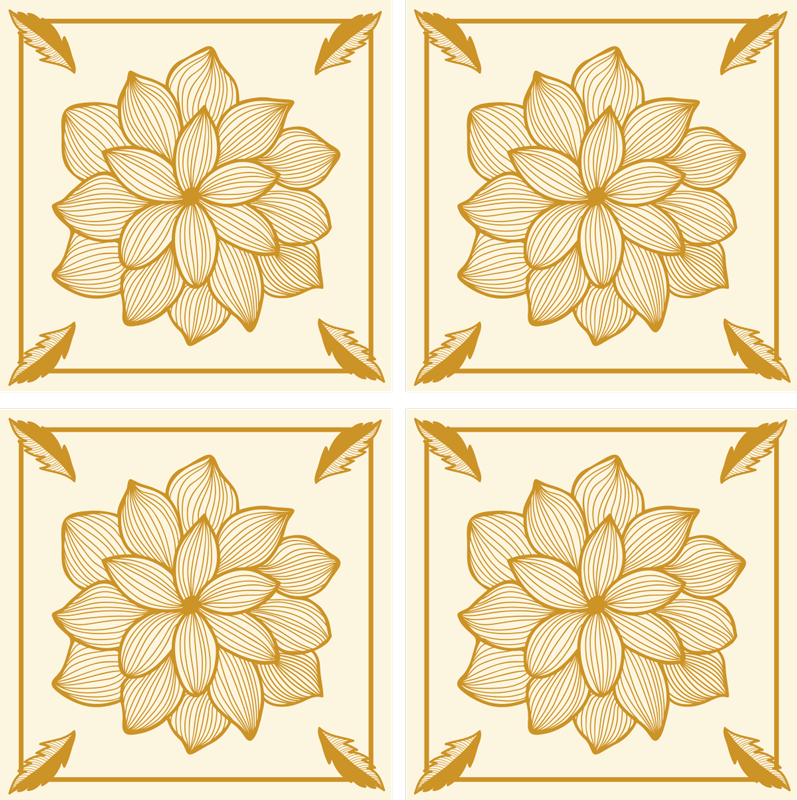 TENSTICKERS. 花の群れペイズリータイル転送デカール. 浴室または台所のための驚くべき装飾的なスペースを作成する美しいスタイリッシュな壁のタイル。適用が簡単で、しわ効果に耐性があります。