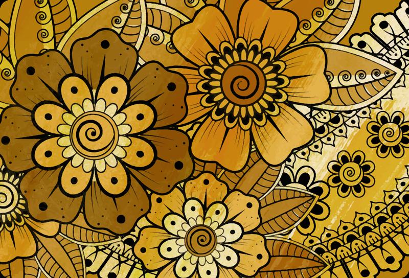 TenVinilo. Vinilo muebles estilo indio paisley. Vinilo para muebles decorativo de flores vintage con diseño indio para decorar la superficie de tus muebles ¡Envío a domicilio!