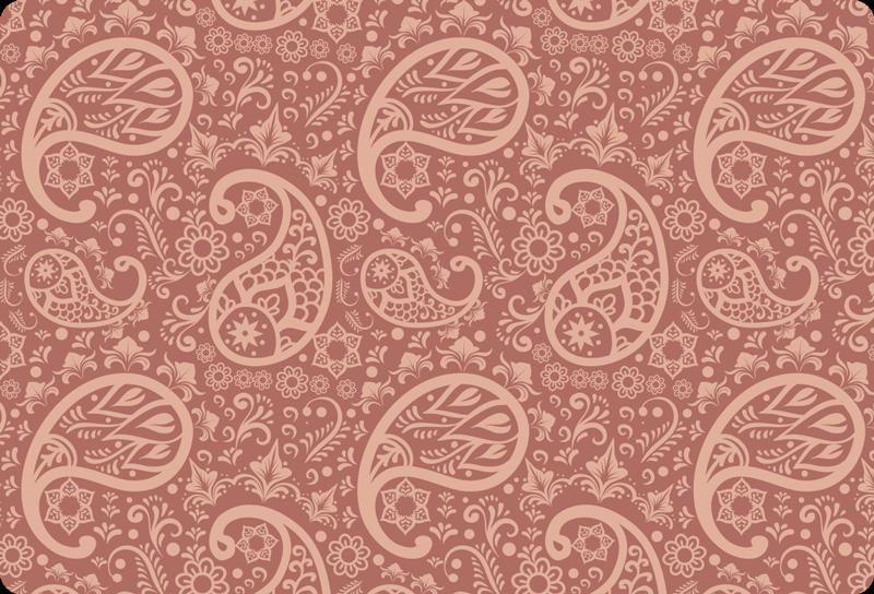 TenVinilo. Vinilo para laptop patrón paisley rosado. Fantástico vinilo para laptop ornamental con diseño paisley y con colores de fondo. Es fácil de aplicar y puedes elegir tamaño ¡Envío a domicilio!
