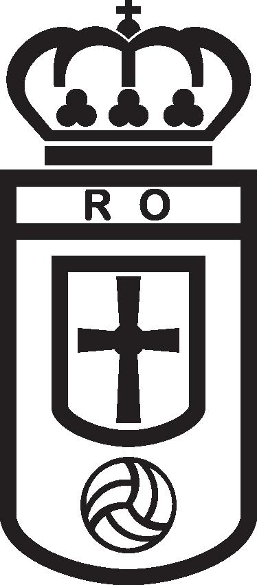 TenVinilo. Vinilo decorativo Real Oviedo. Escudo Adhesivo del Real Oviedo, club de fútbol del Principado de Asturias. Original vinilo para los amantes del deporte.