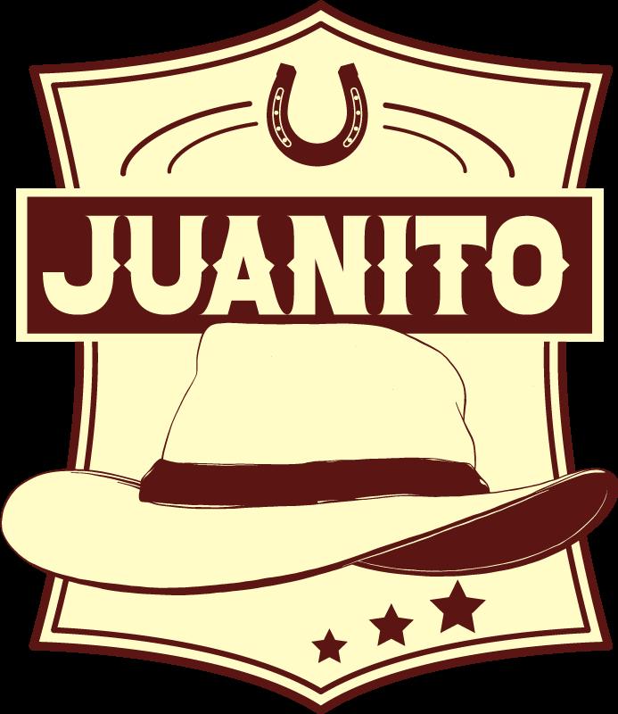 TenVinilo. Vinilo para refrigerador cowboy sombrero con nombre. Personaliza tu nevera con este vinilo para refrigerador con diseño cowboy con sombrero en el que podrás personalizar tu nombre ¡Envío a domicilio!