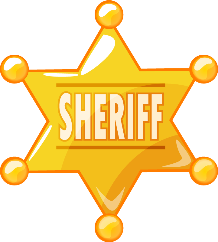 TenVinilo. Vinilo niños estrella de vaquero con nombre. Vinilo niños con estrella icónica del sheriff en color dorado. El producto está hecho con vinilo de alta calidad ¡Envío a domicilio!