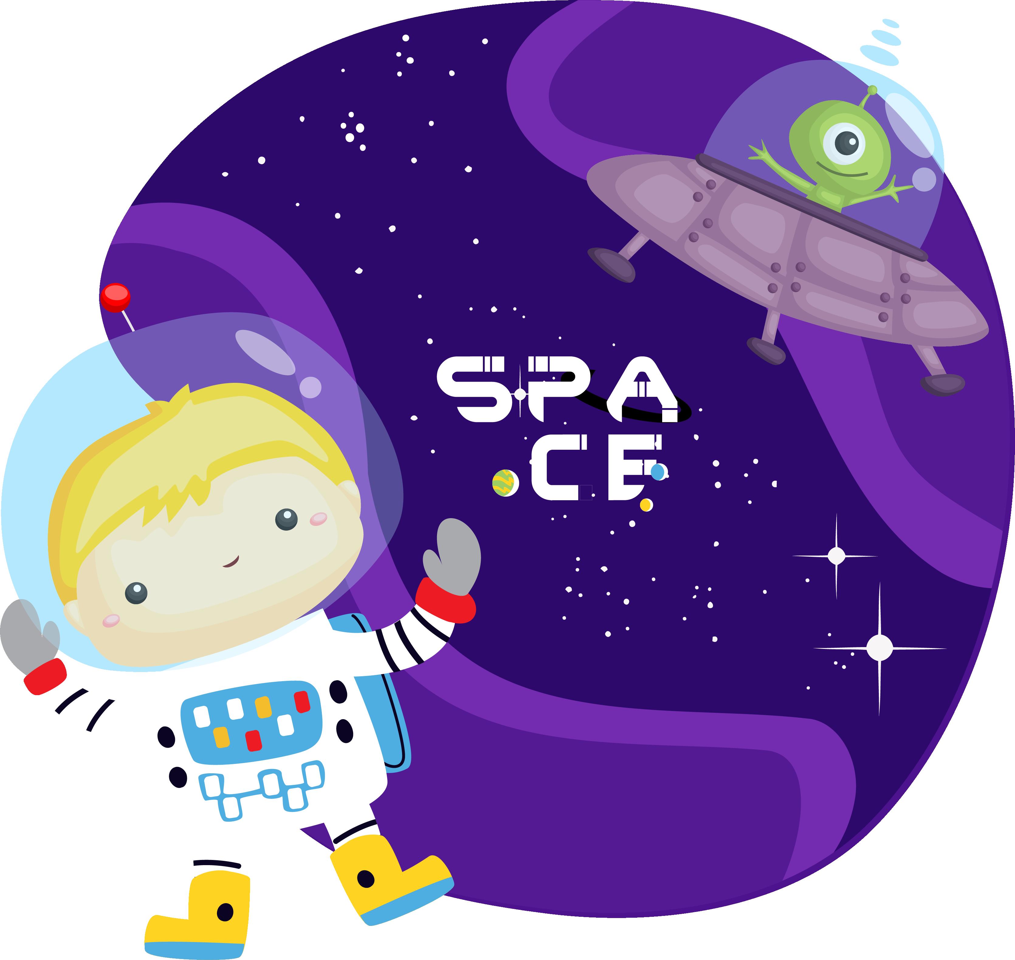 TenVinilo. Vinilo para niños espacio con astronauta. Un increíble vinilo para niños con astronauta en el espacio dibujado con el que tu hijo dejará volar su imaginación ¡Envío a domicilio!