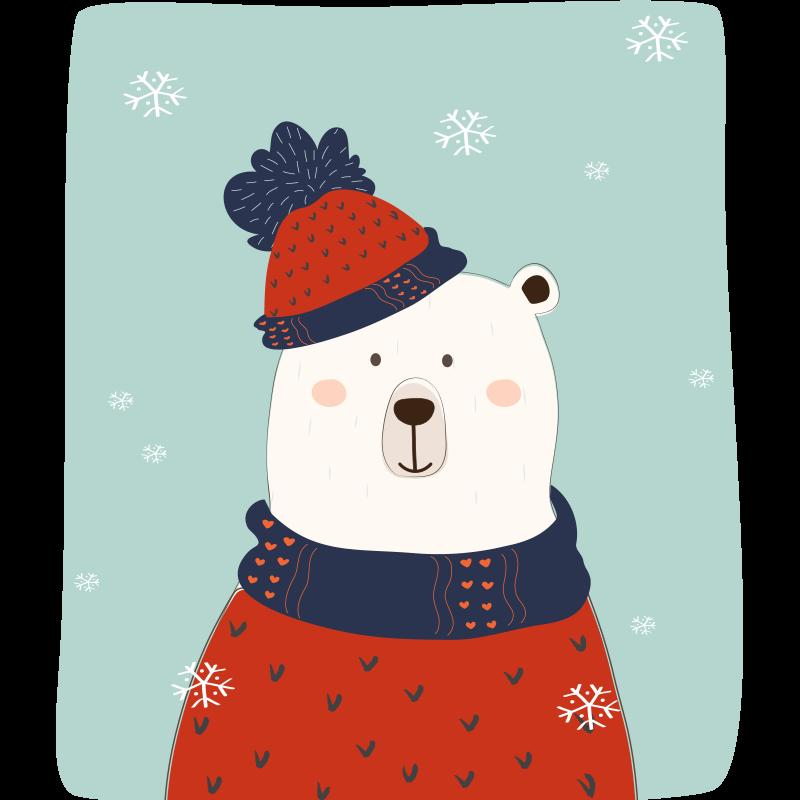 TENSTICKERS. 山の動物の壁のステッカーのクマ. 子供のための動物のビニールステッカーを負担します。特別な装飾であなたの子供のスペースを超楽しいものにしてください。製品はさまざまなサイズで利用できます。