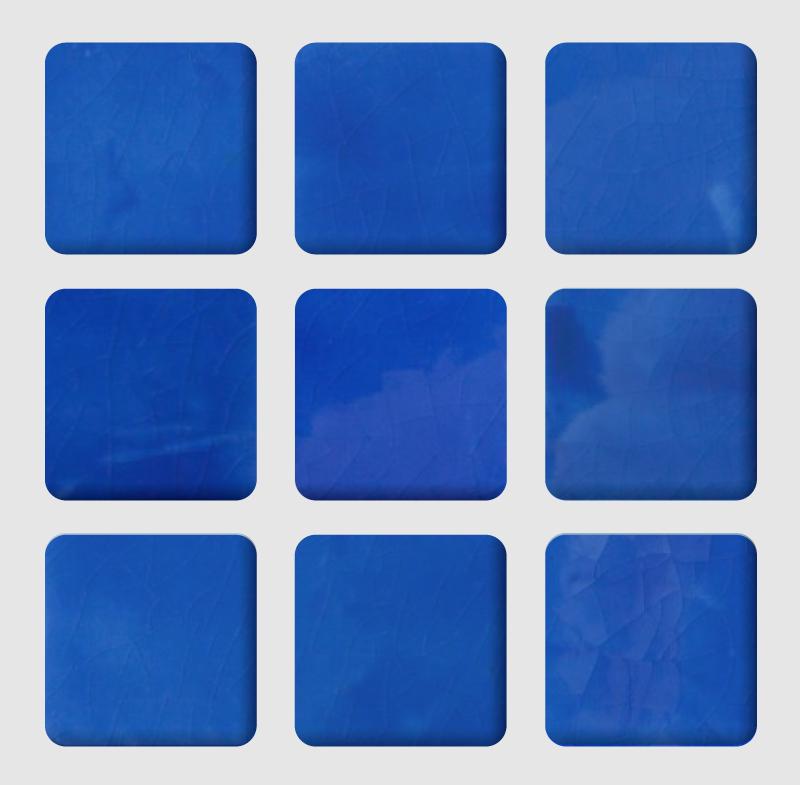 TENSTICKERS. 青い色合いボードタイル転送. シンプルで素敵な方法でスペースを美しくする浴室の青い陰板装飾タイルステッカーデザイン。適用が簡単で、品質が優れています。