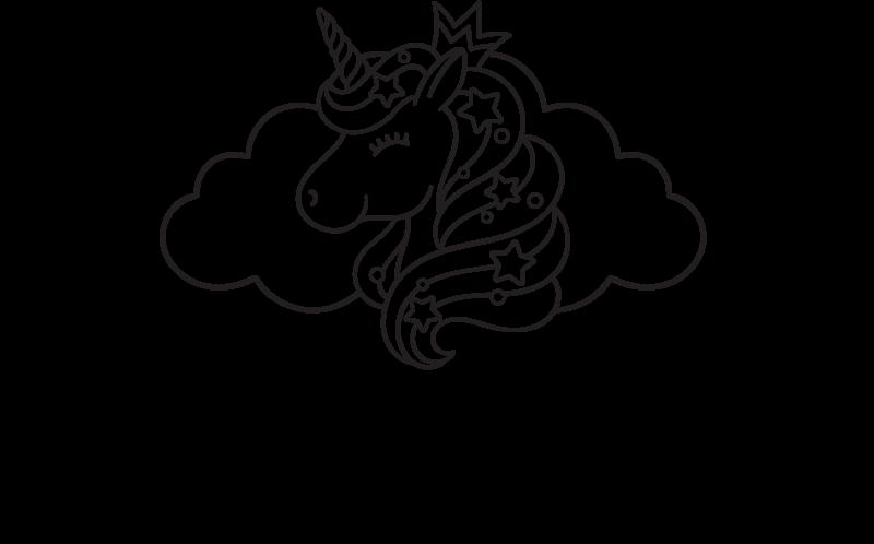 TENSTICKERS. 名前の付いた幸せなユニコーンカスタムステッカー. 子供の寝室の装飾のためのパーソナライズされた名前のユニコーンステッカー。このデザインは、子供にアピールし、妖精のファンタジーを満たすために創造的に作られています。