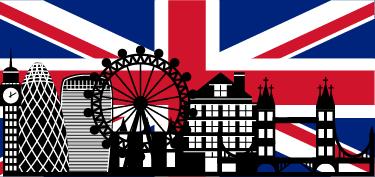 TenVinilo. Vinilo decorativo Big Ben con bandera. Espectacular Foto mural que nos ofrece un contraste de color único, de nuestra colección de vinilos de Londres.
