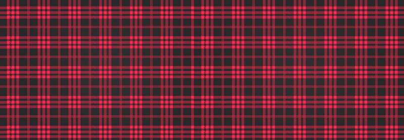 TenStickers. Stickers voor op meubels Kerst tartan patroon. Decoratief tartan patroon sticker voor meubels met een ruitjespatroon. Dit ontwerp is gestript in rode en zwarte kleur. , gemakkelijk aan te brengen en van kwaliteit.