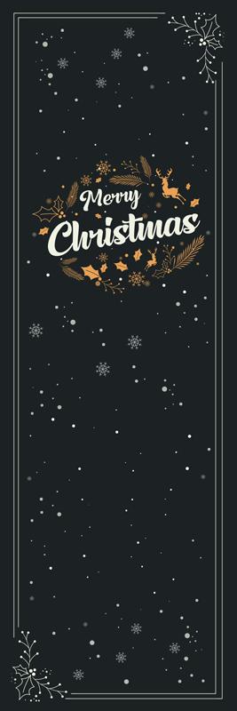 TenStickers. Autocolantes para portas Composição de feliz natal. Projeto de Vinil decorativo de móveis de feliz natal feito de vinil de alta qualidade com capacidade autoadesiva. é fácil de aplicar e pode ser removido.