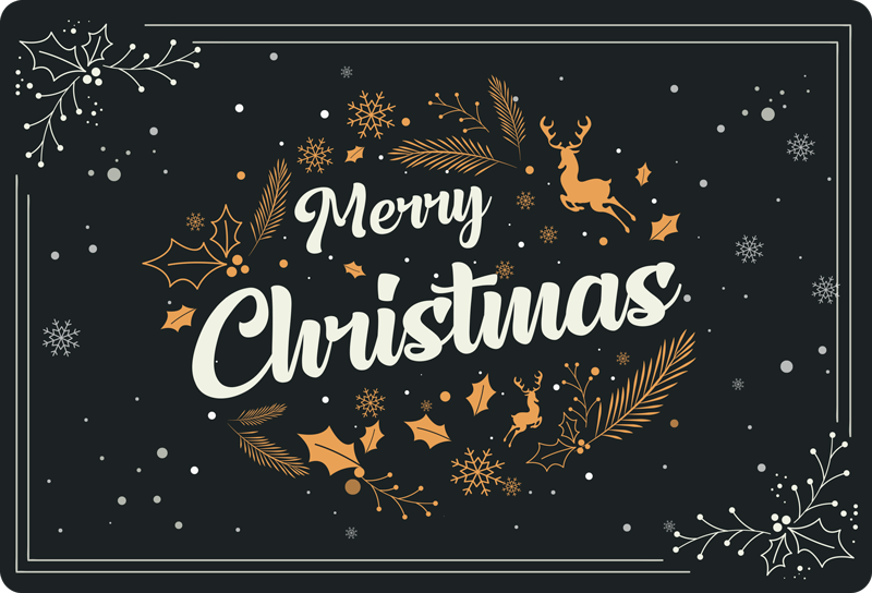 TENSTICKERS. メリークリスマス組成クリスマス壁デカール. ノートパソコン用の装飾クリスマスステッカーで、ノートパソコンをタッチとクリスマスのオーラで飾りましょう。雪片などでデザインされています。