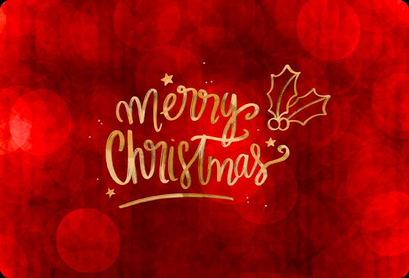TENSTICKERS. 赤いクリスマスの壁のステッカーのメリークリスマス. あなたはラップトップの装飾でクリスマスの喜びと気持ちを共有したいですか?ここにあなたのためのクリスマスの装飾的なラップトップのデカールがあります。