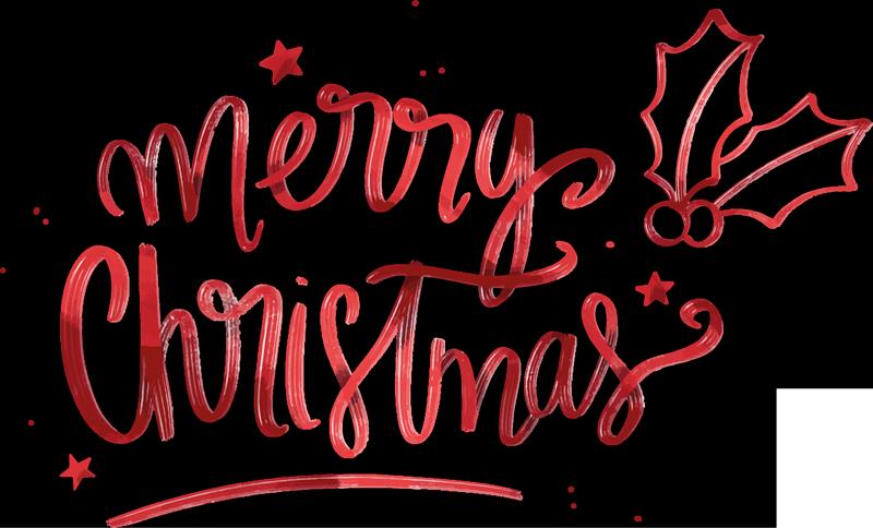Adesivi Buon Natale.Adesivo Natalizio Buon Natale In Rosso Tenstickers