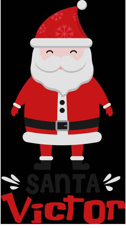 TENSTICKERS. サンタクロースとホホホクリスマス壁デカール. 衣装を着たサンタクロースのクリスマスウォールステッカーで、子供にクリスマスの喜びを与えてください。適用は簡単です。