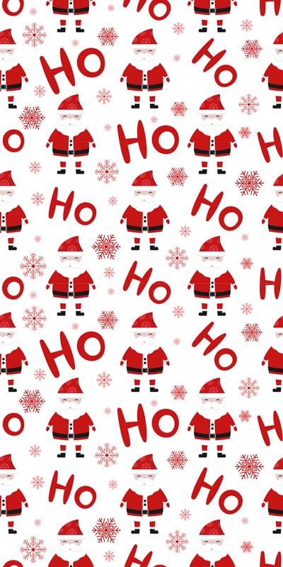 TENSTICKERS. サンタクロースとホホホパターンクリスマスデカール. 子供のスペースにおすすめの理想的なクリスマスウォールステッカーです。クリスマスの装飾として他のスペースにも適しています。