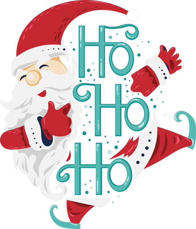 TENSTICKERS. サンタクロースho ho hoクリスマスウォールステッカー. サンタクロースho ho hoクリスマスの家を飾るクリスマスステッカーデザイン。適用が簡単で、高品質のビニールで作られています。