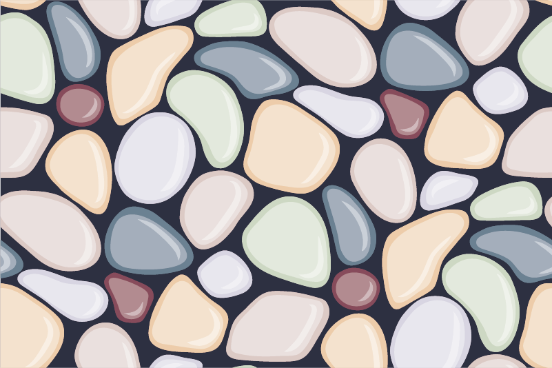 TenStickers. Sea Stones Wall Mural. A lovely photo mural illustrating sea stones from our collection of sea wall stickers perfect for your home and other places such as your office.