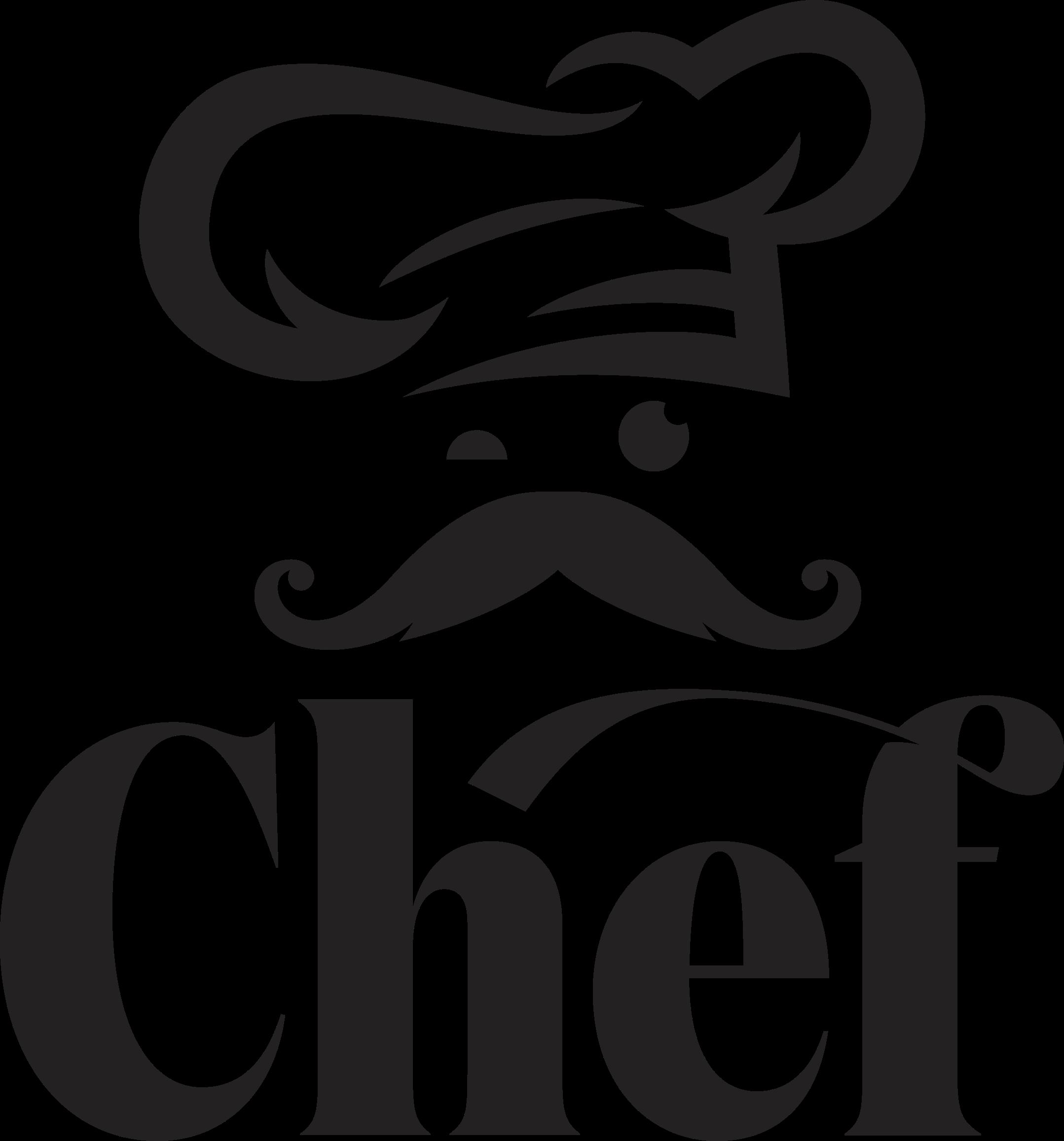 TenVinilo. Vinilo cocina gorro de chef. Vinilo para cocina con dibujo de chef. También está inscrito con el texto 'chef. Disponible en diferentes colores y tamaños ¡Envío a domicilio!