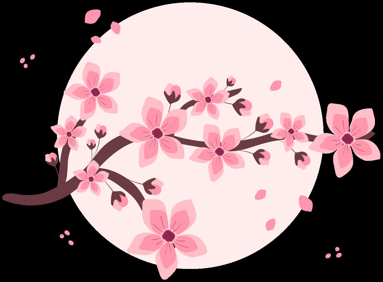 TenVinilo. Árbol en vinilo con flores primaverales en círculo. Hermosa vinilo flores de árbol en círculo rosa diseñado de forma elegante para decorar tu casa. Fácil de colocar ¡Envío a domicilio!