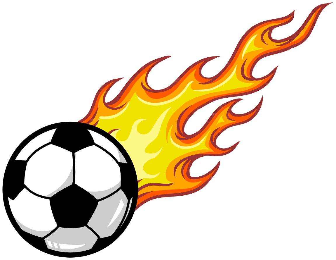 TenStickers. Shooting fire football sticker.  Shooting fireball  football wall decal, a lovely decorative idea for teenagers and kids bedroom. Easy to apply and of high quality.