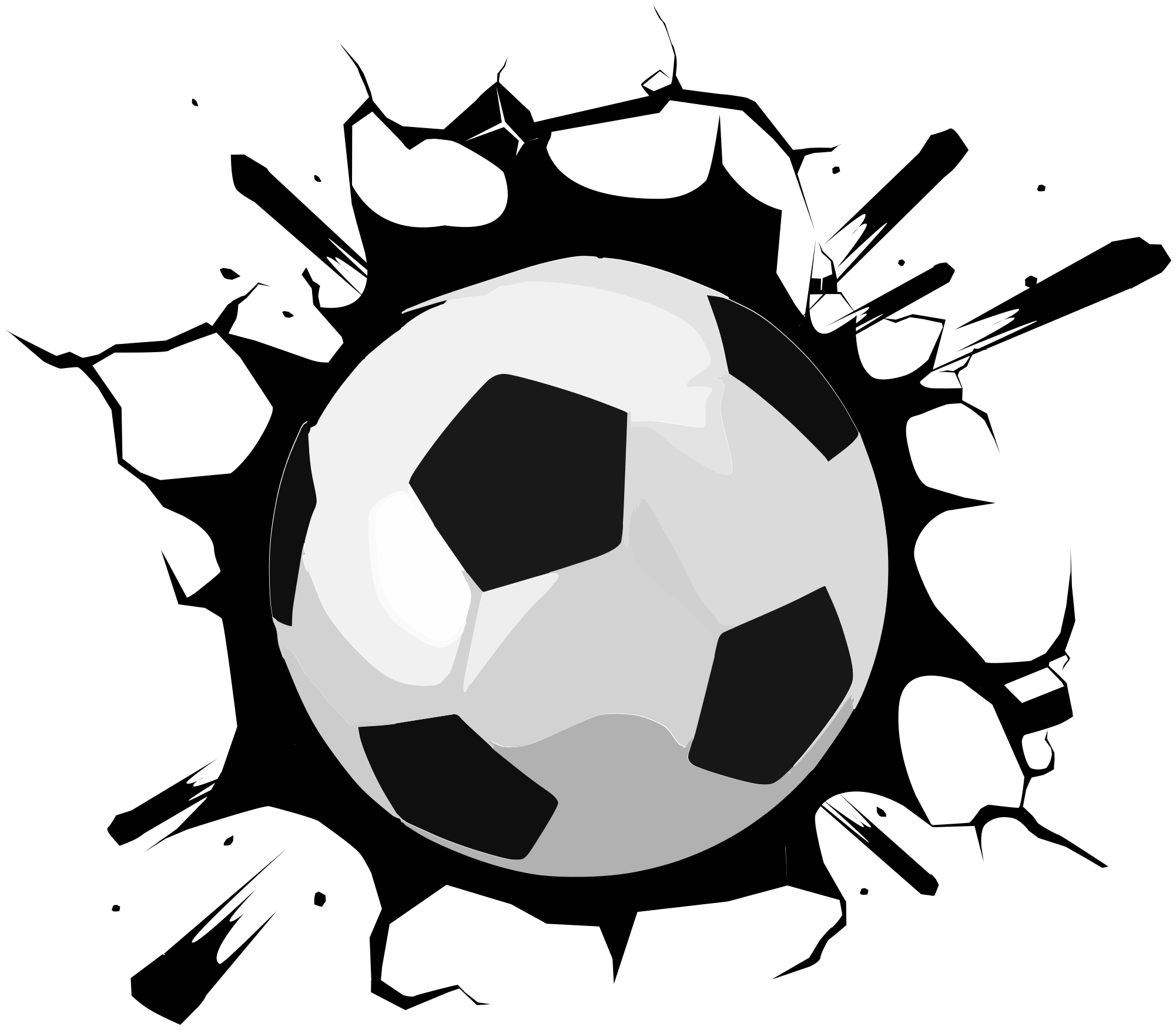 TENSTICKERS. 壁のサッカーデカールをボール. 平らな面のための素敵なサッカースポーツステッカーの装飾で、壁、ドア、窓、家具に装飾されています。簡単に適用できます。