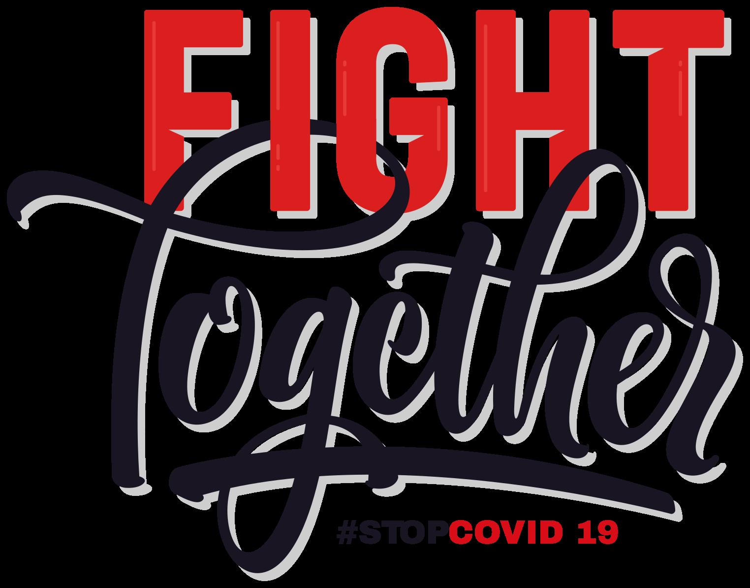 TENSTICKERS. 一緒にコロナテキスト壁デカール. Covid 19サインビニールテキストデカール。選択した任意のフラットスペースに配置して、covid 19の認知度を高めることができます。それは「一緒にコロナと戦う」と書かれています。