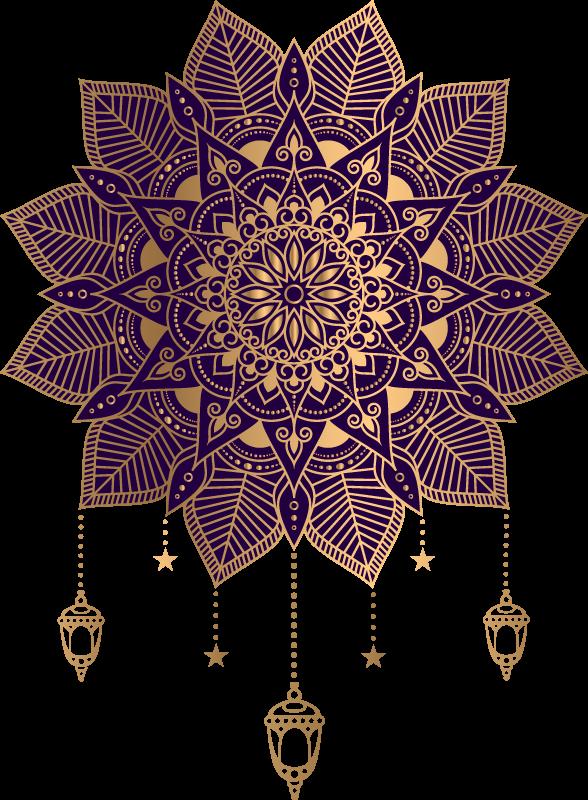 TenVinilo. Vinilo decorativo mandala elegante tonos dorados. Vinilo para pared mandala con elegantes ornamentaciones encantadoras para decorar cualquier superficie plana ¡Envío a domicilio!