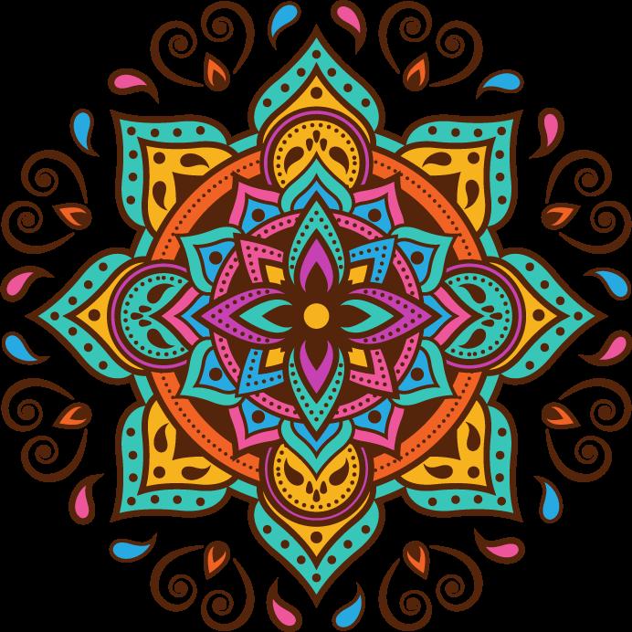 TENSTICKERS. 古典的なマンダラのラップトップの皮. 任意のラップトップスペースの装飾的な装飾的なマンダラの花模様のデカール。適用が簡単で、自己接着性があり、しわ効果に耐性があります。