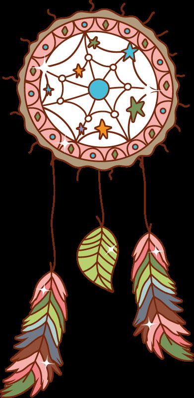 TenVinilo. Pegatina para portátil atrapasueños mandala. ¿Crees en el mito detrás de los atrapasueños? Si es así, aquí hay una pegatina para portátil ornamental de atrapasueños ¡Envío a domicilio!