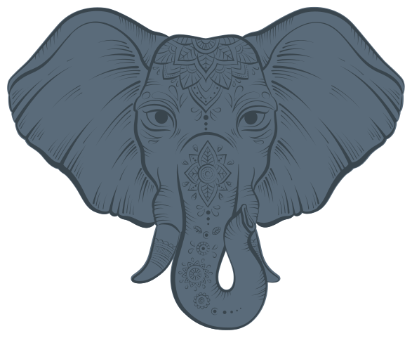 TenVinilo. Vinilo de animales salvajes elefante étnico ornamental. Vinilo de animales salvajes con elefante para colocar en cualquier superficie plana. Es autoadhesivo y fácil de aplicar ¡Envío a domicilio!