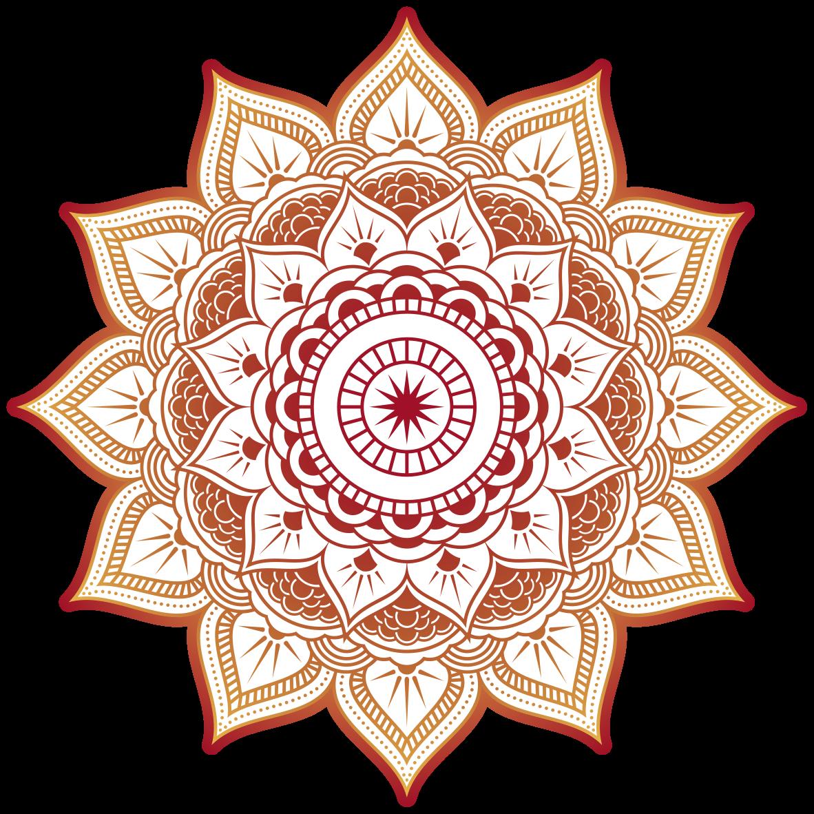 TenStickers. Vinil com padrões florais Forma de sol de mandala. Autocolante de parede floral de forma de sol de mandala para a decoração de casa e escritório. é autoadesivo e fácil de aplicar. Disponível em qualquer tamanho necessário.