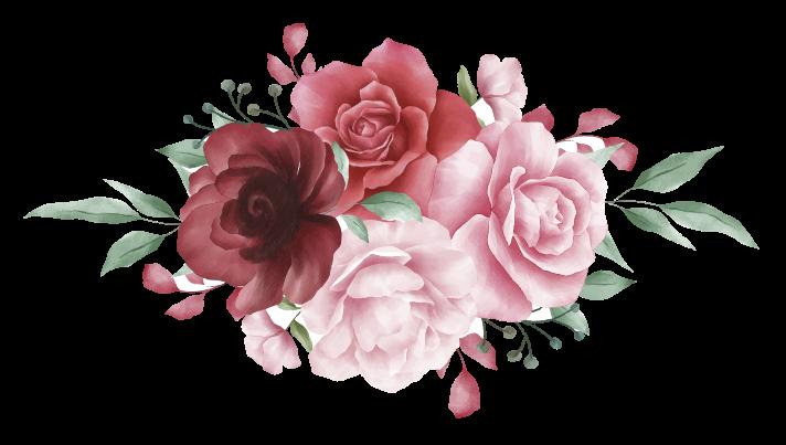 TenStickers. Autocolantes flores Efeito aquarela rosas vermelhas e rosa. Nosso autocolante decorativo de flores vermelhas e rosa é um elemento para embelezar qualquer superfície plana, seja em seu computador, parede, mobília, porta, etc.