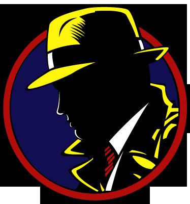 TenStickers. Dick Tracy Muursticker. Een leuke muursticker gebaseerd op de oude stripverhalen van de heldhaftige detective Dick Tracy. Voordelig personaliseren.